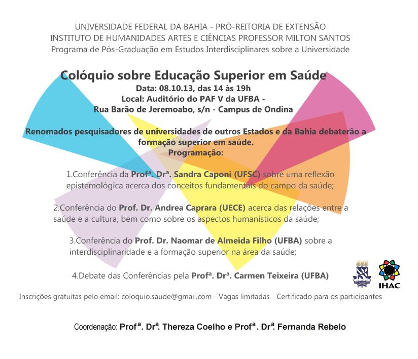 Colóquio sobre Educação Superior em Saúde