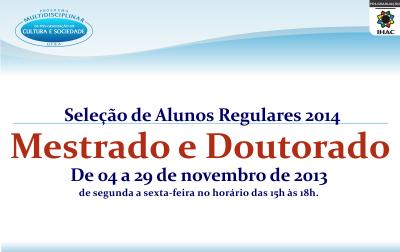 Seleção para Aluno Regular 2014
