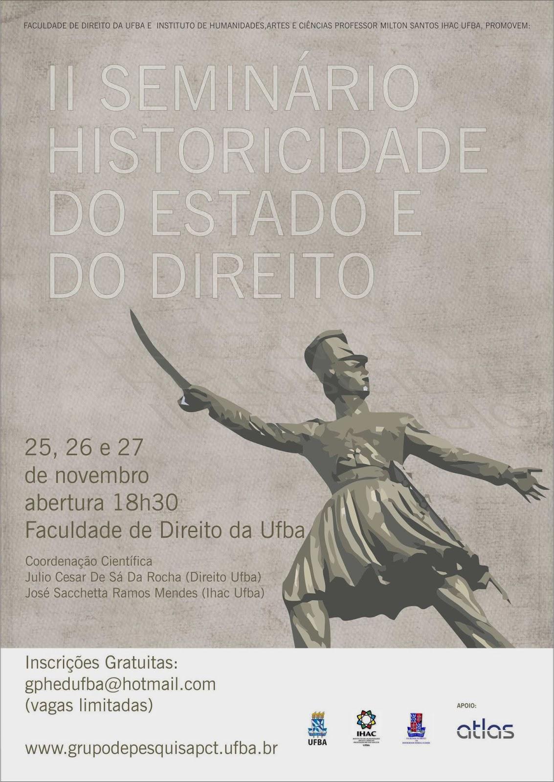 II Seminário Historicidade do Estado e do Direito