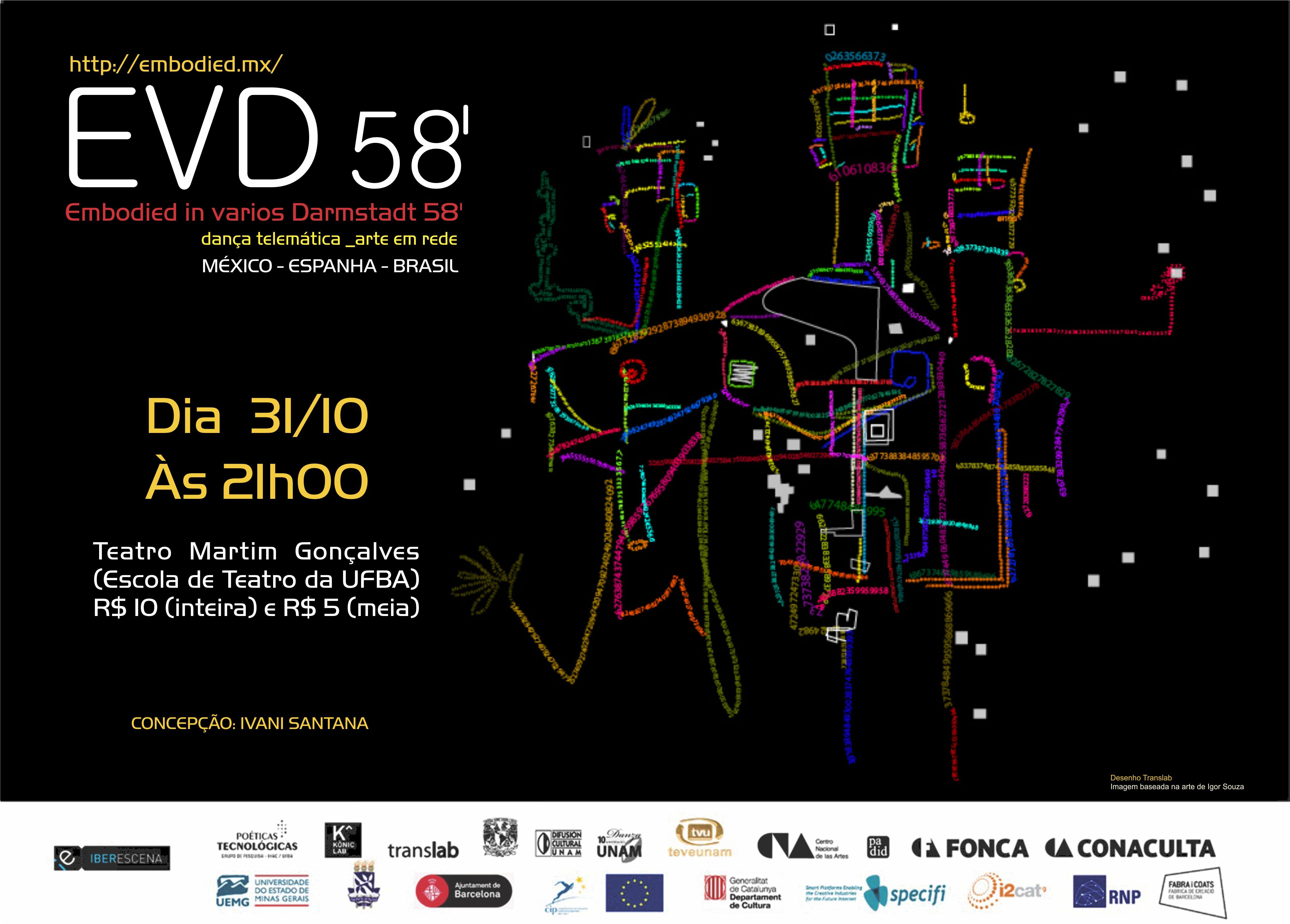 Espetáculo de Dança Telemática entre Brasil, Espanha e México