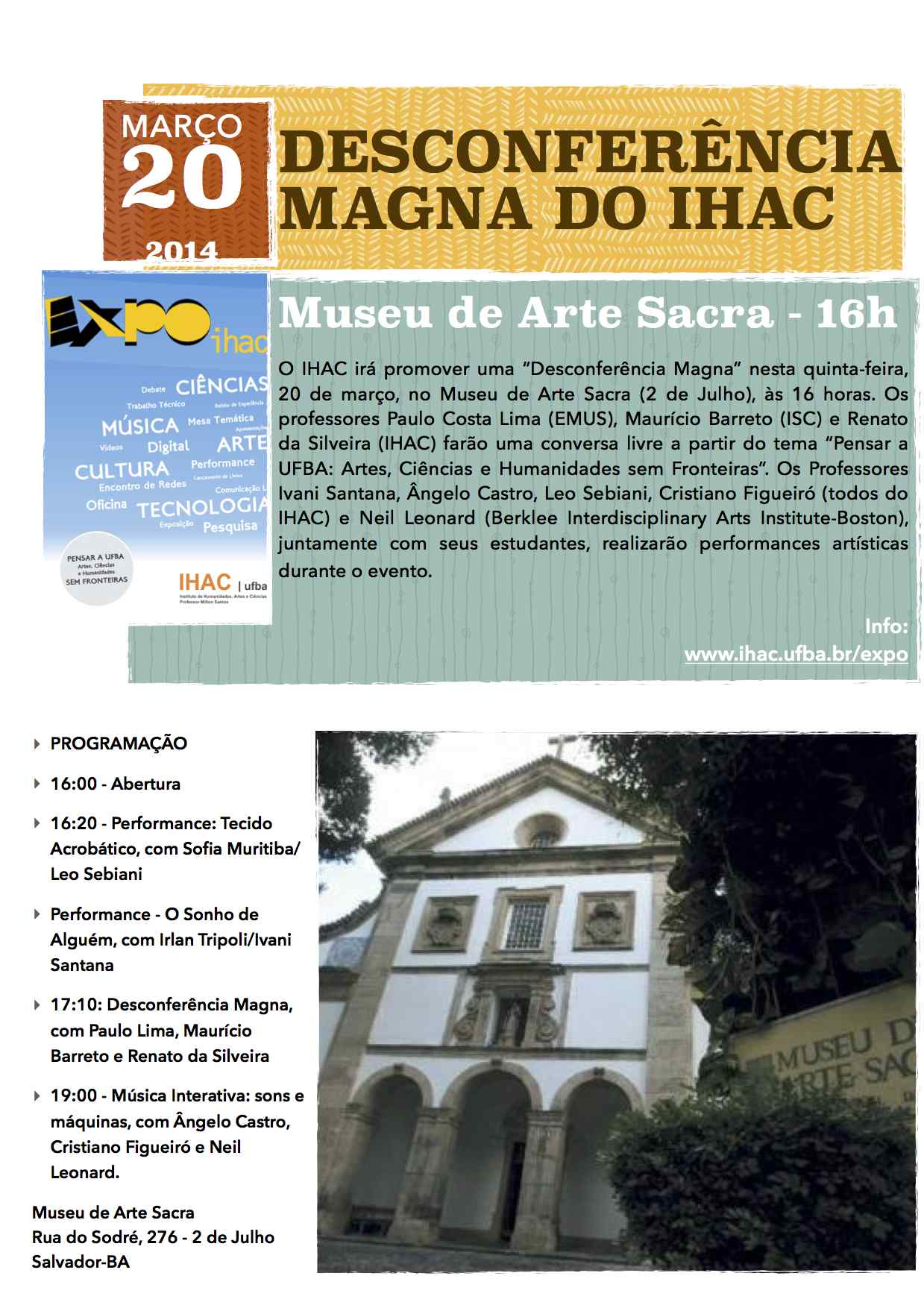 Desconferência Magna do IHAC no Museu de Arte Sacra