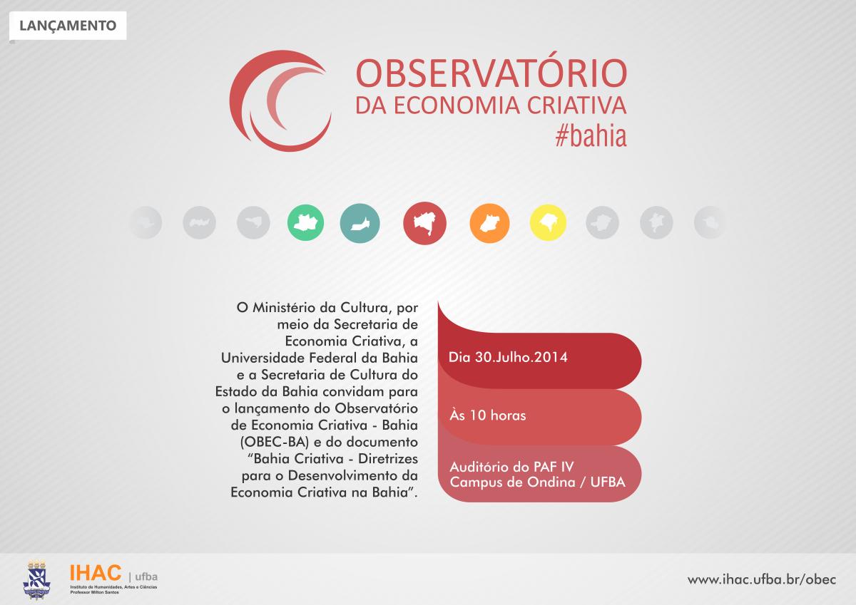 Observatório da Economia Criativa será lançado em Salvador