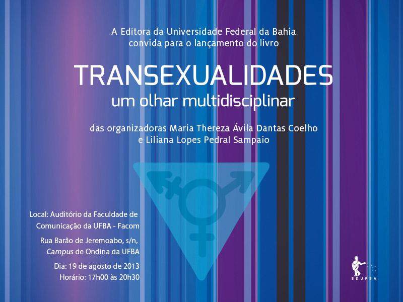 Lançamento do livro Transexualidades: um olhar multidisciplinar
