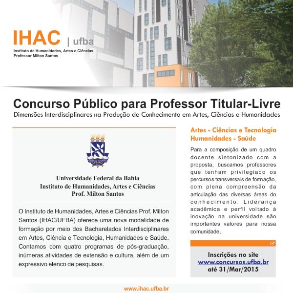 Concurso Público para Professor Titular-Livre