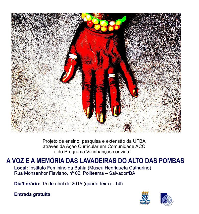Voz Lavadeiras do Alto das Pombas celebram Dia Mundial da Voz