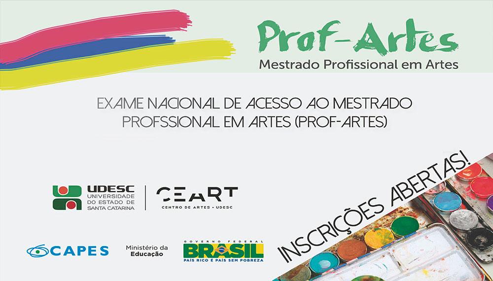 Prof-Artes: inscrições até 30 de abril!
