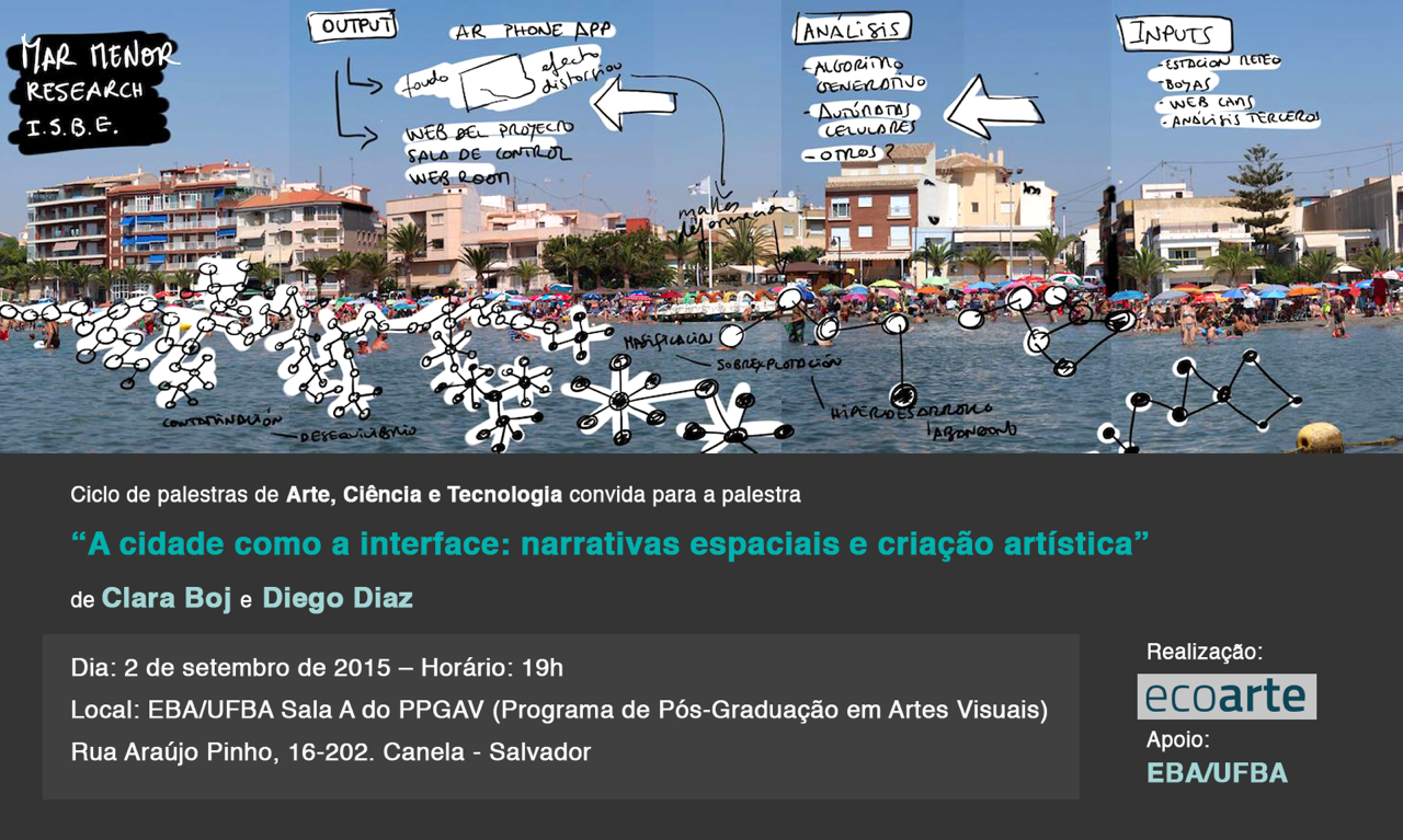 Palestra A cidade como a interface: narrativas espaciais e criação artística