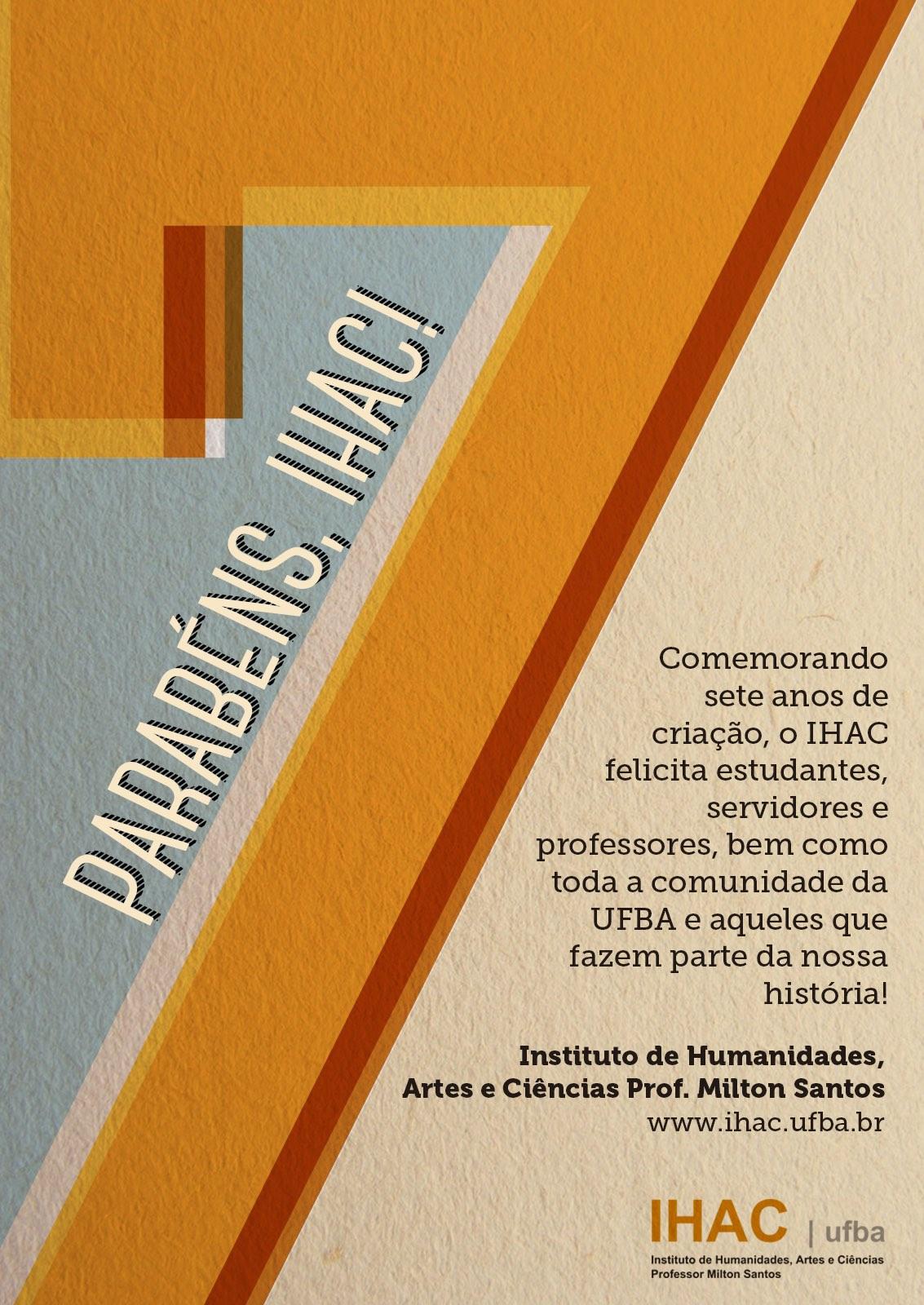 Comunidade celebra sete anos do IHAC!