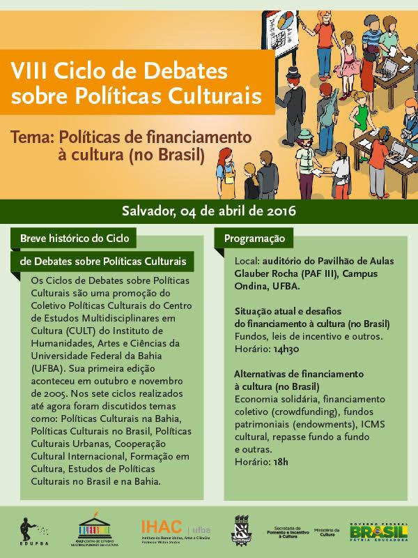 VIII Ciclo de Debates sobre Políticas Culturais