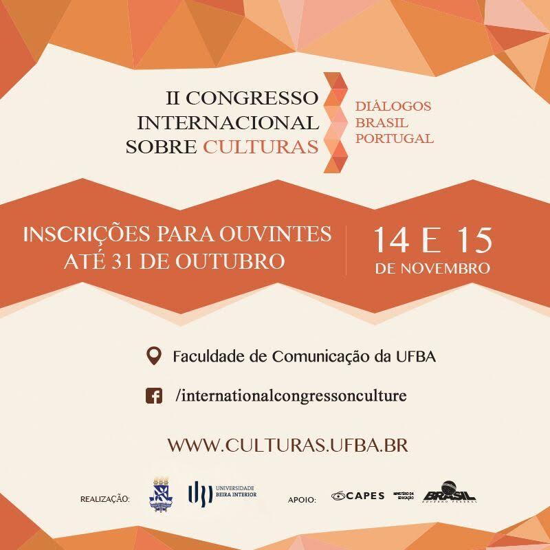 II Congresso Internacional Sobre Culturas – Inscrições até 31 de outubro
