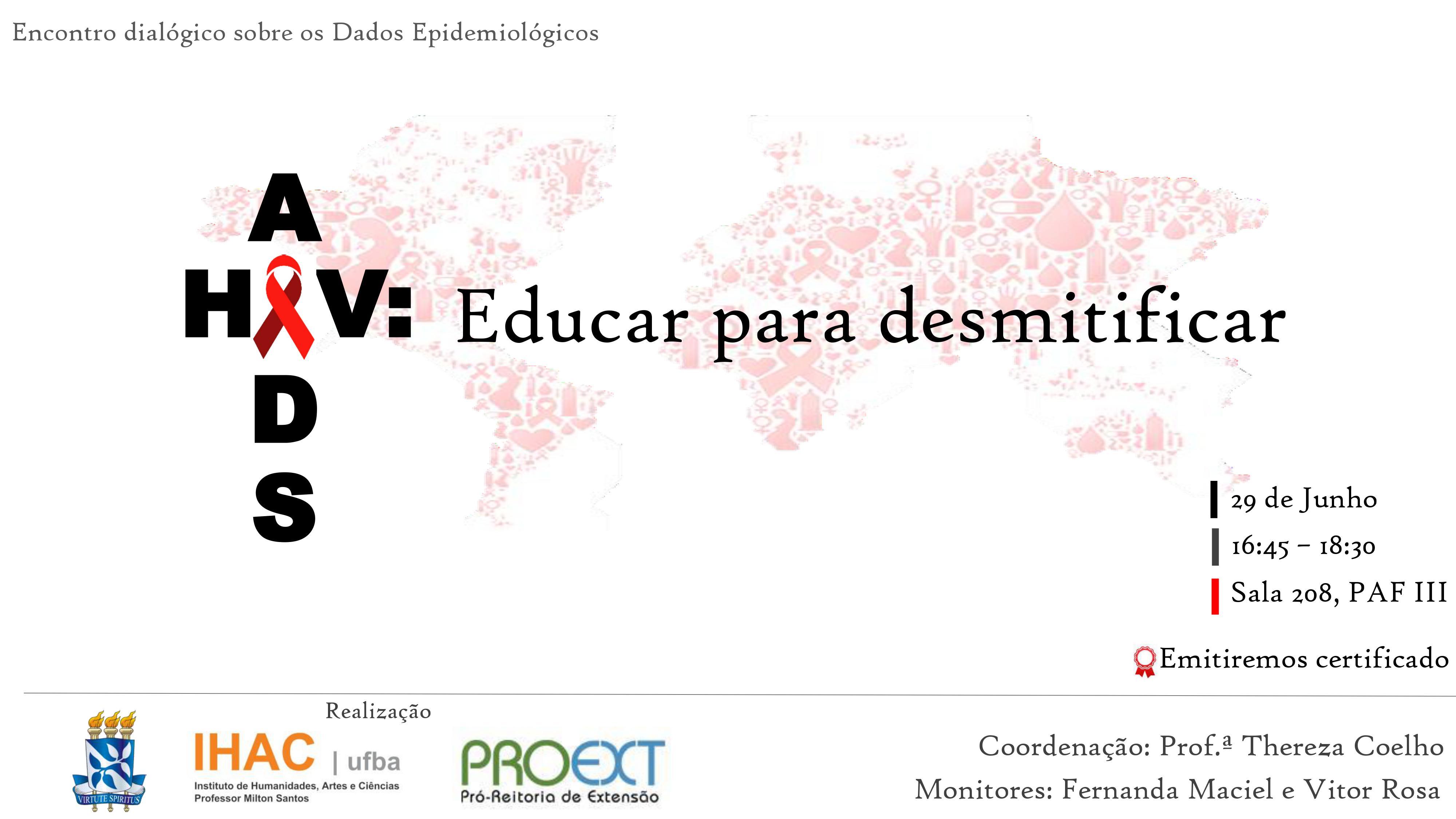 """Próximo encontro dialógico """"AIDS: Educar para desmistificar"""" acontece no dia 29 de junho"""