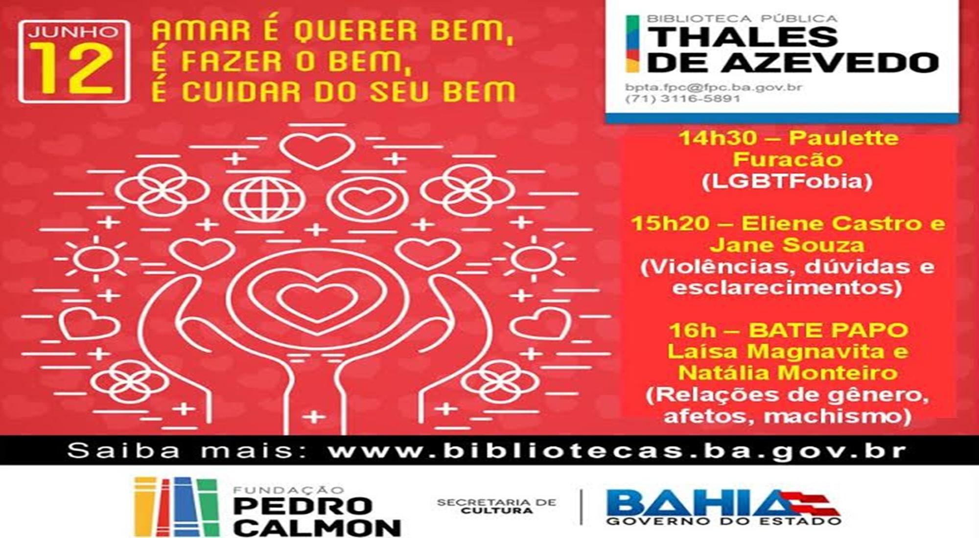 A Biblioteca Pública Thales de Azevedo Realizará Atividades em Comemoração ao Dia dos Namorados