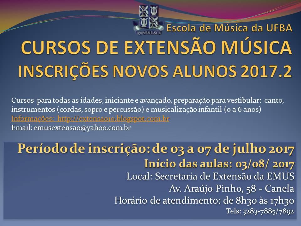 A Escola de Música da UFBA Abre Inscrições para Curso de Extensão Música
