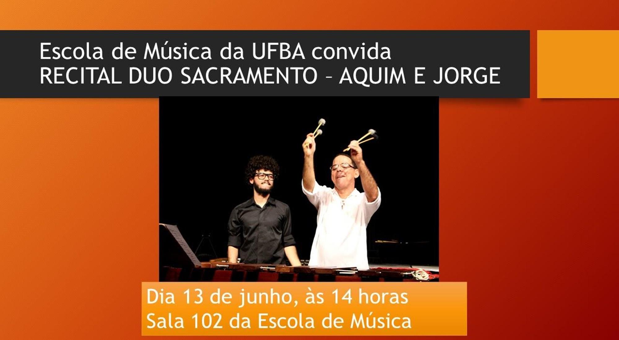 Escola de Música da UFBA Convida o Duo Sacramento para Apresentar Prévia do que Será o Recital na Colômbia