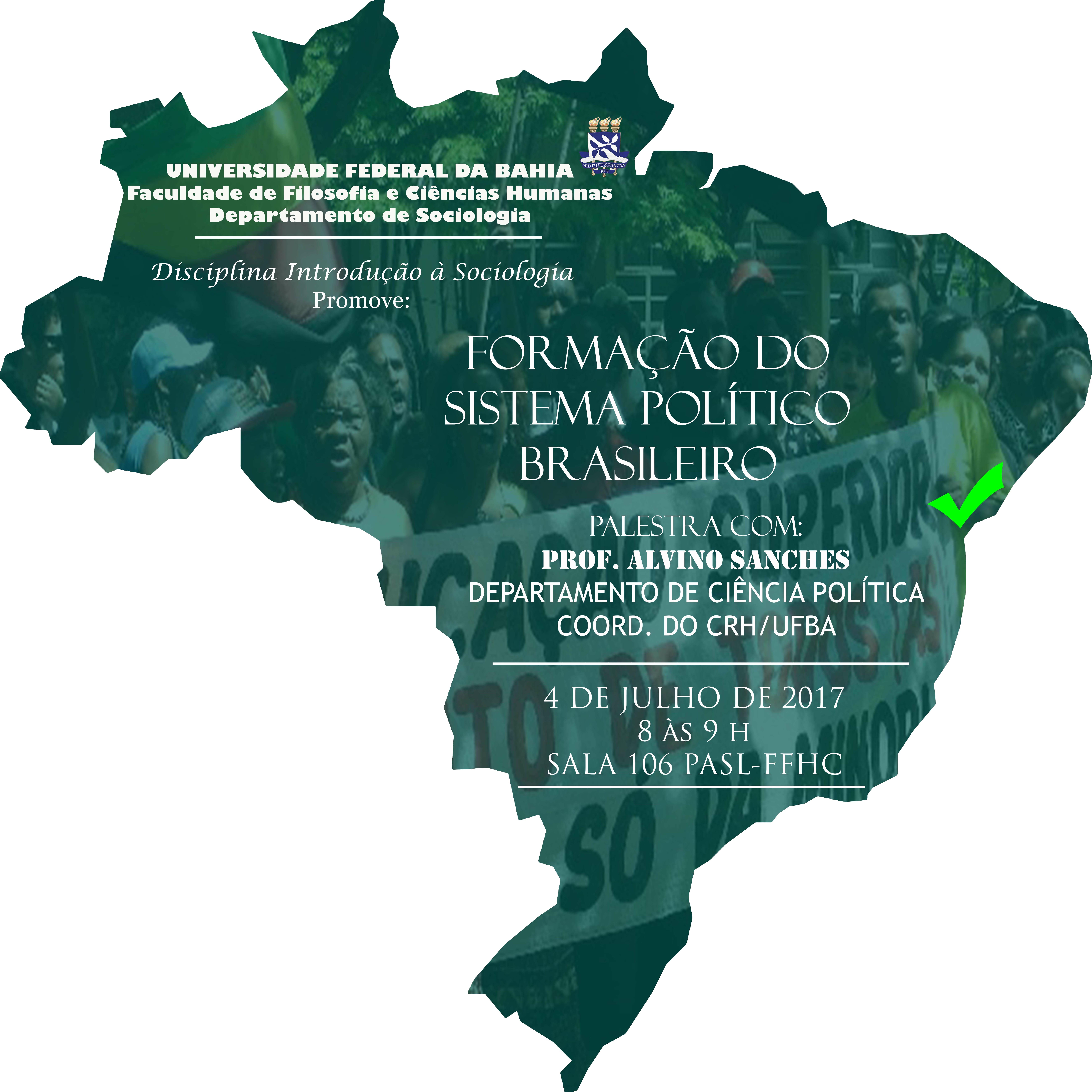Acontece no PASL- São Lazaro a Palestra: Formação do Sistema Político Brasileiro