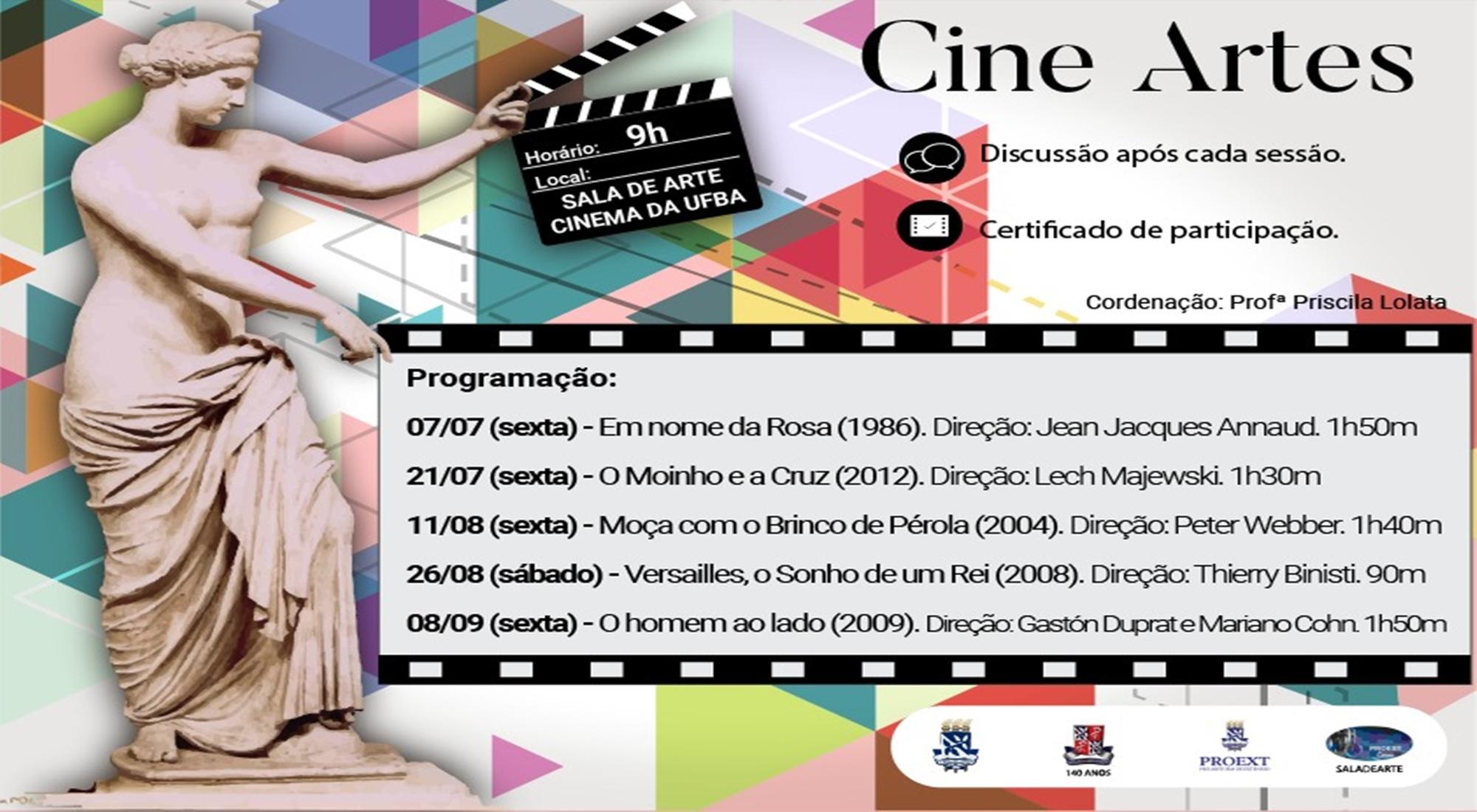O Projeto Cine Artes Promove Mostra Fílmica Sobre a História do Design e da Arte