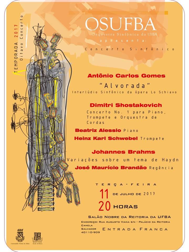 OSUFBA – Temporada 2017 Promove o Oitavo Concerto Sinfônico no Salão Nobre da Reitoria