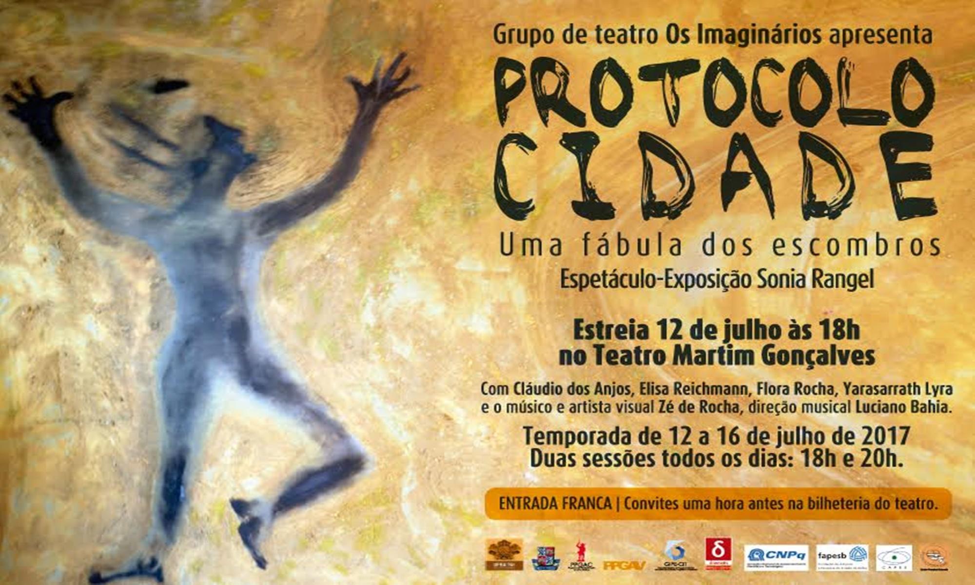 PROTOCOLO CIDADE: uma fábula dos escombros é apresentado em curta temporada no Teatro Martin Gonçalves