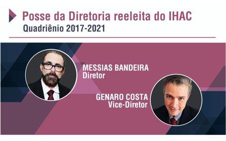 Diretoria reeleita do IHAC toma posse nesta sexta-feira para o quadriênio 2017-2021