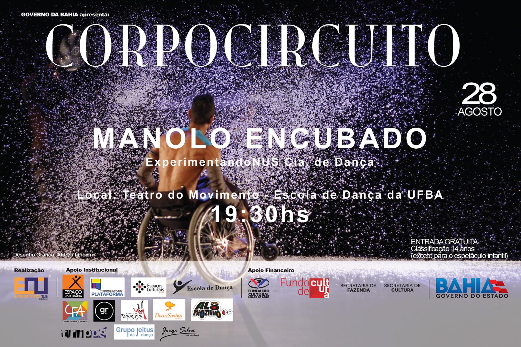 Teatro do Movimento daEscola de Dança da UFBA sedia espetáculos do projeto CORPOCIRCUITO