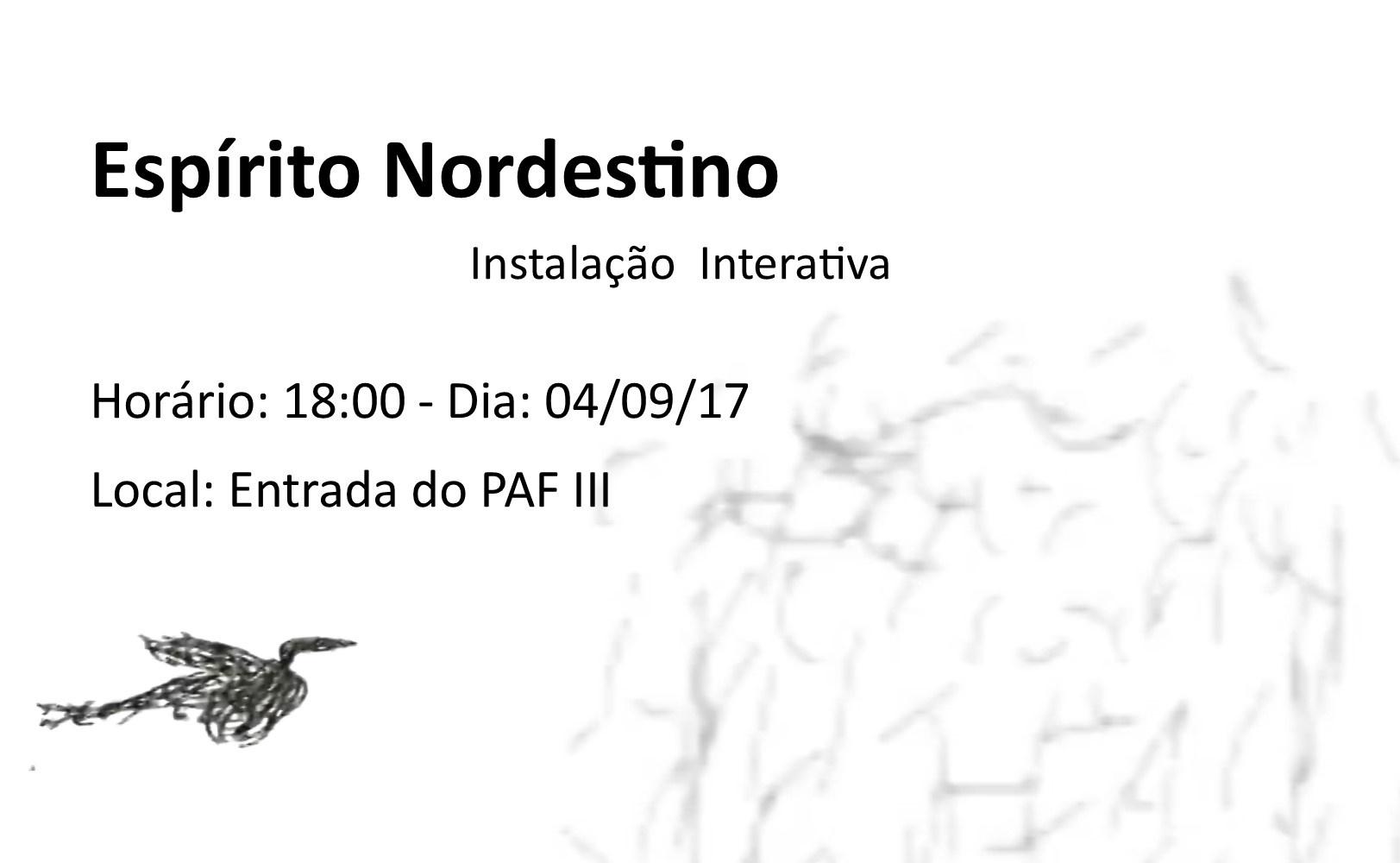 """Estudantes do IHAC realizam instalação interativa """"Espírito Nordestino"""" na entrada do PAF-III"""