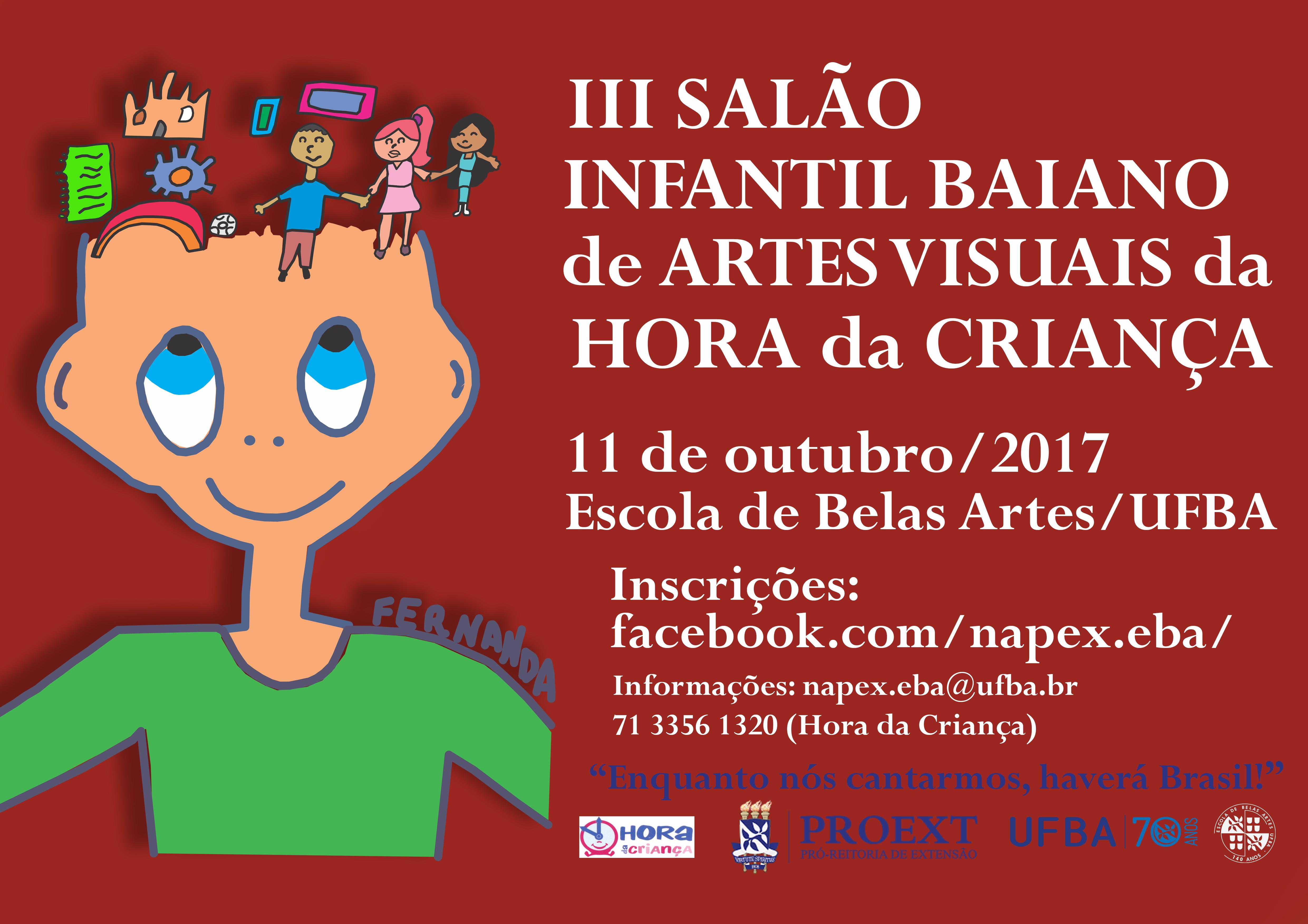 Inscrições abertas para o III Salão Infantil Baiano de Artes Visuais