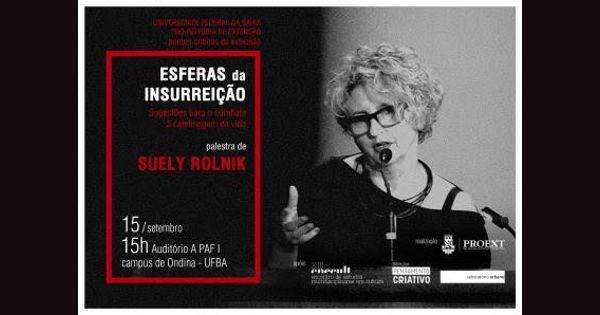 """PROEXT realiza mais uma edição do """"Pontos Críticos da Extensão"""" e recebe a psicanalista Suely Rolnik"""