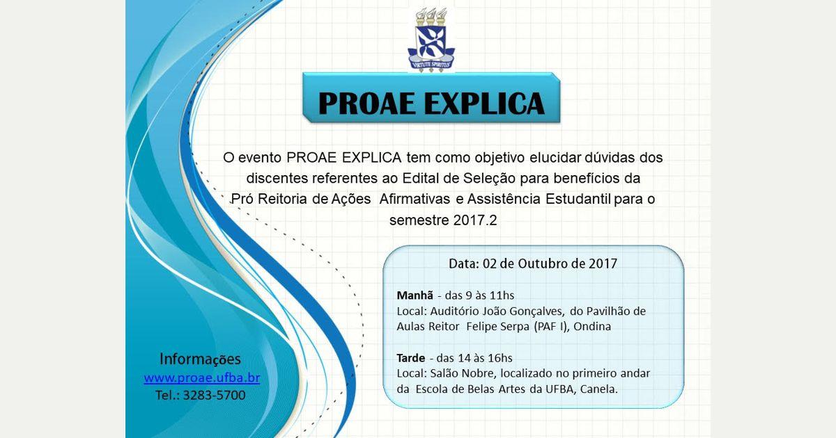 PROAE realiza evento para tirar dúvidas sobre o Edital de Seleção para benefícios