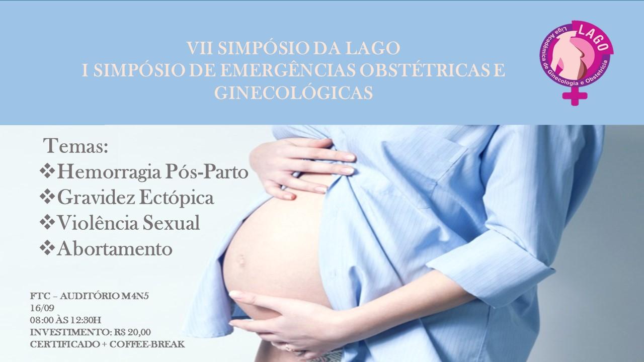 """Liga Acadêmica de Ginecologia e Obstetrícia – LAGO convida estudantes do BI em Saúde para simpósio sobre """"Emergências Obstétricas e Ginecológicas"""""""