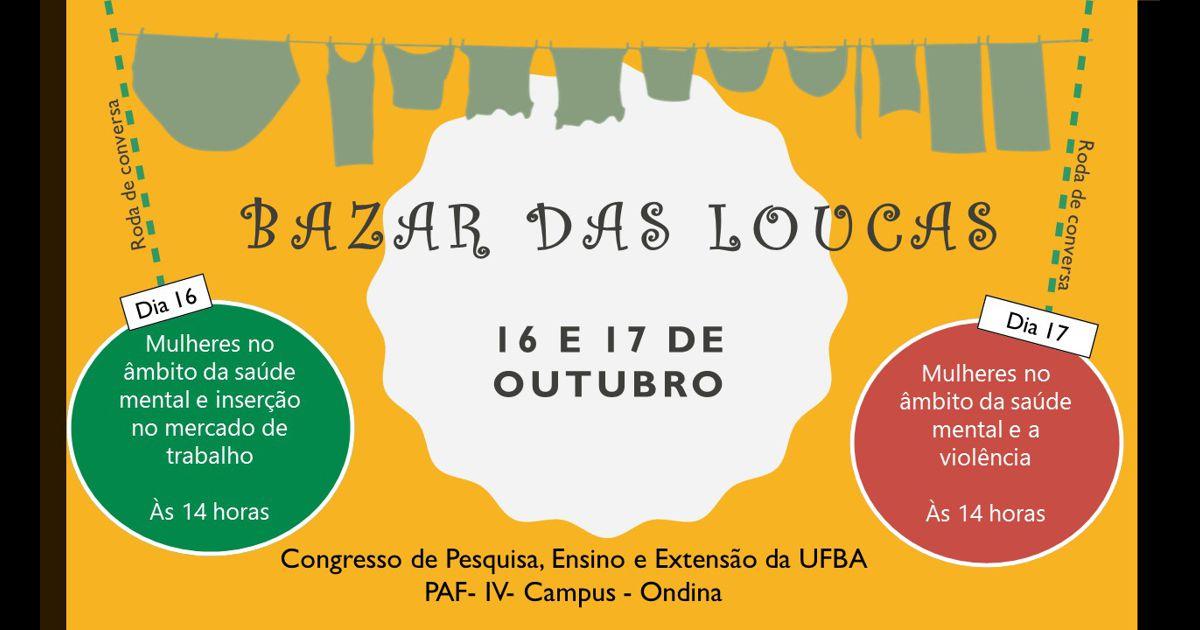 Segunda edição do Bazar das Loucas acontece durante o Congresso da UFBA 2017