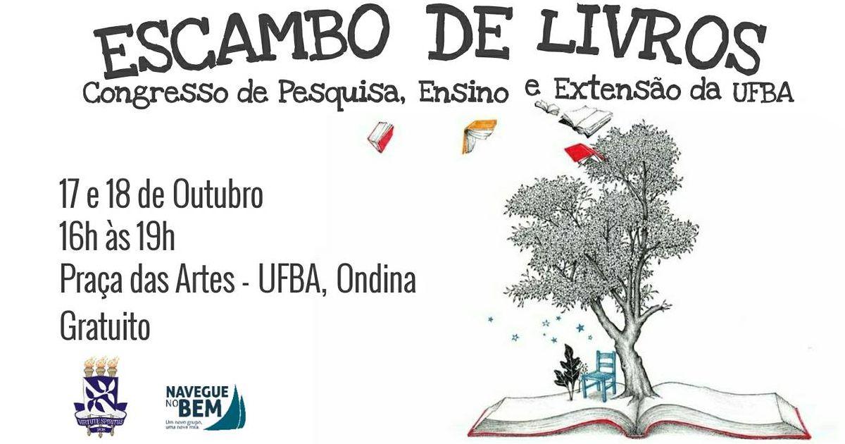 """Projeto """"Escambo de Livros"""" participa do Congresso da UFBA"""