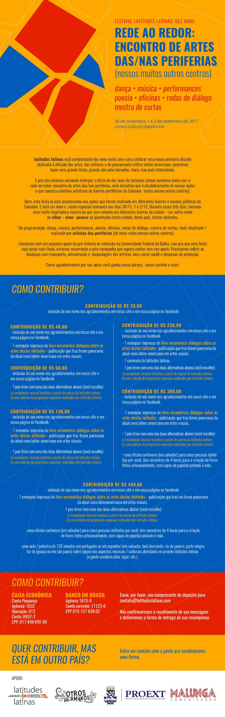 Latitudes Latinas faz campanha de arrecadação para realização do festival em comemoração aos 10 anos do Projeto