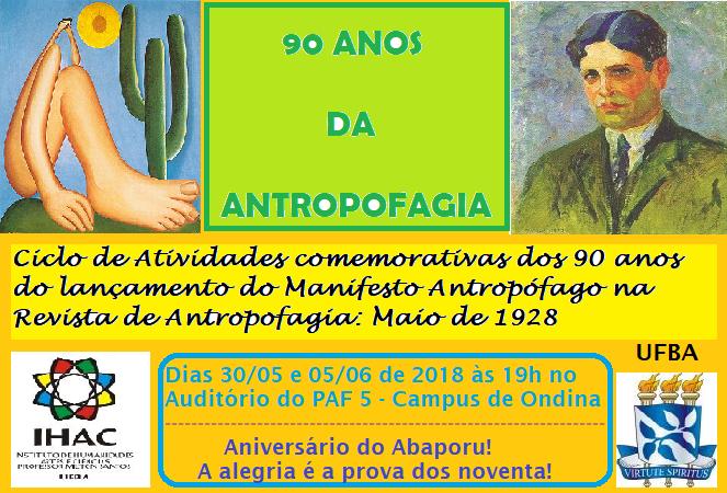 Evento no IHAC comemora os 90 anos do Manifesto Antropófago