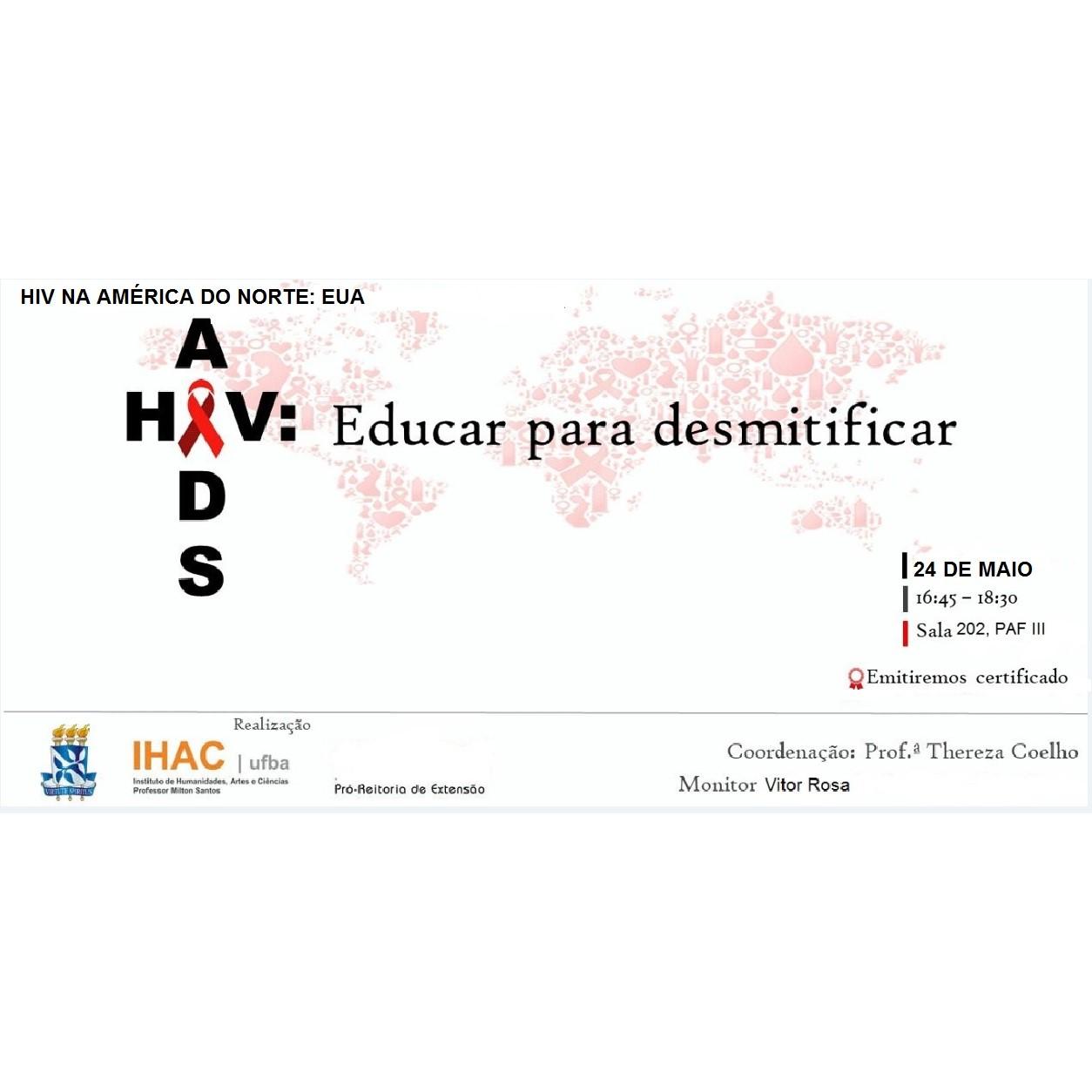 """Próximo encontro """"HIV/AIDS: Educar para desmistificar"""" acontece no dia 24 de maio"""