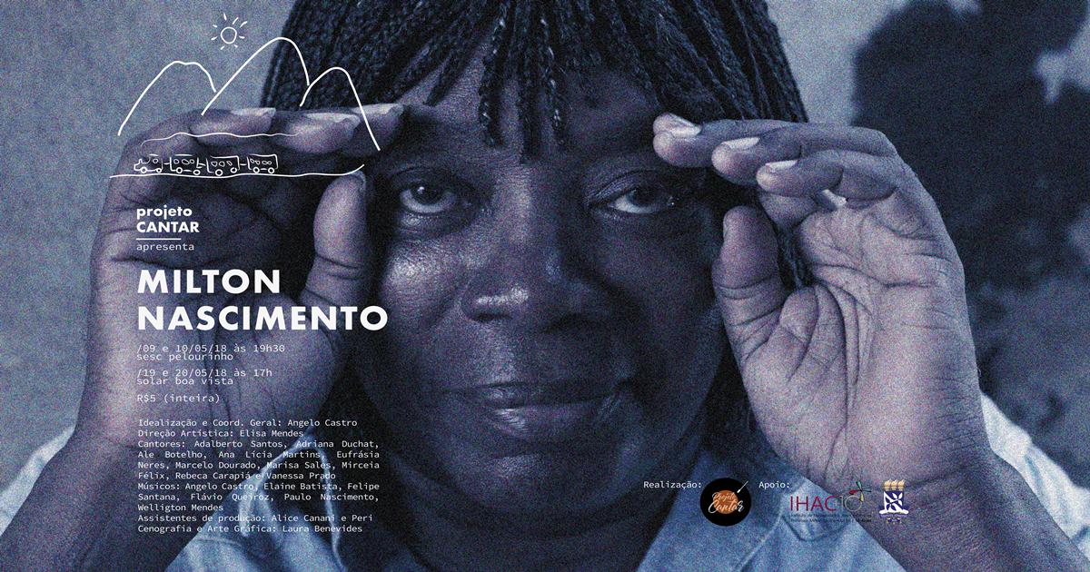 """Projeto Cantar, coordenado pelo professor Ângelo Castro (IHAC), apresenta show """"Milton Nascimento"""""""