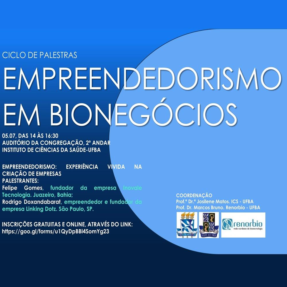 Departamento de Ciências da Biointeração promove Ciclo de Palestras
