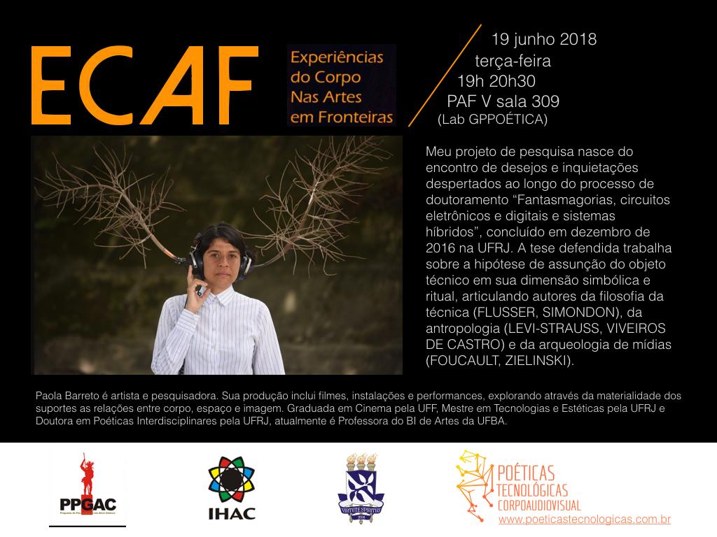 """Projeto """"Experiências do Corpo nas Artes em Fronteiras"""" recebe Paola Barreto"""