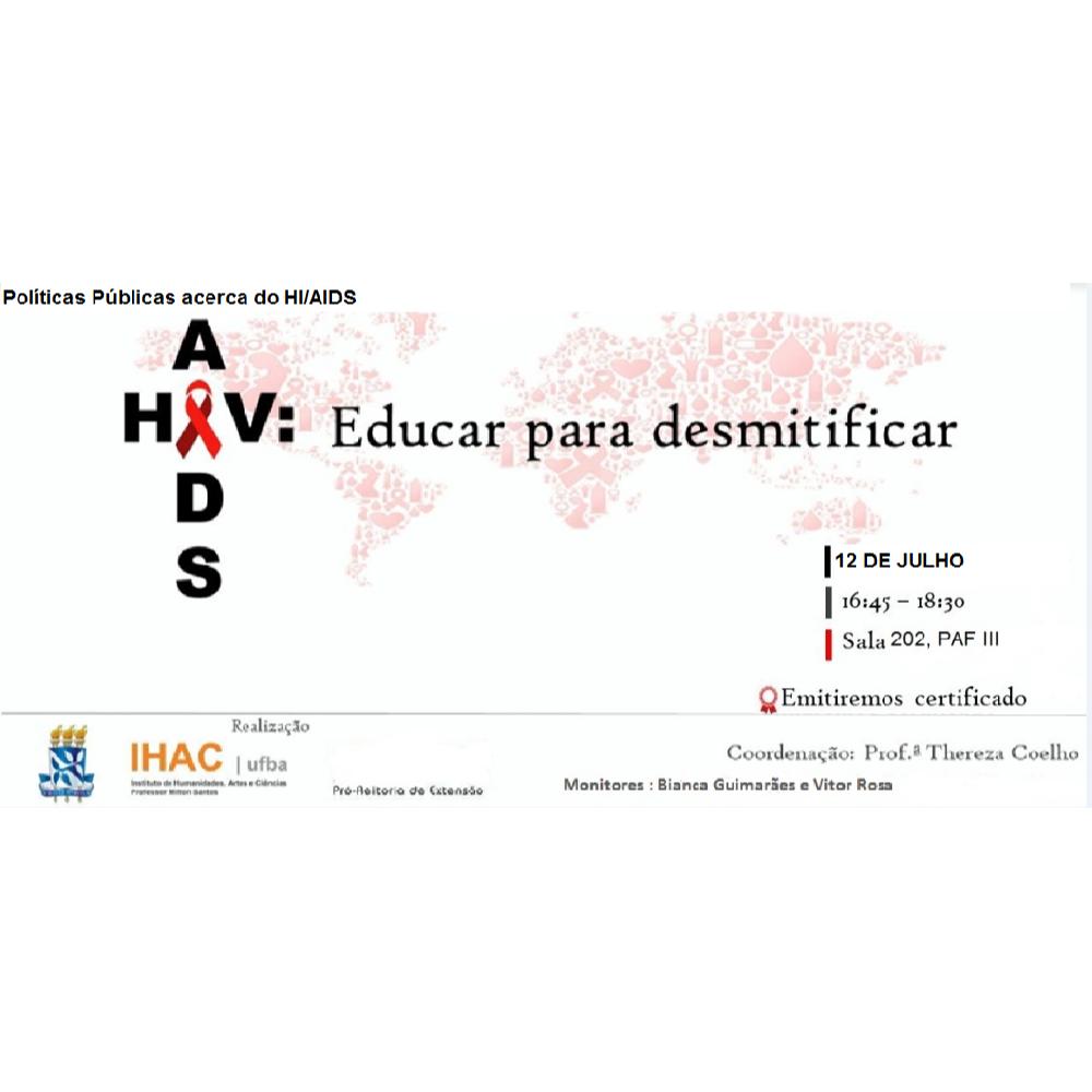 """Próximo encontro """"HIV/AIDS: Educar para desmistificar"""" acontece no dia 12 de julho"""