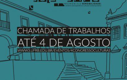 IV Congresso Internacional sobre Culturas: envio de resumos até 4 de agosto