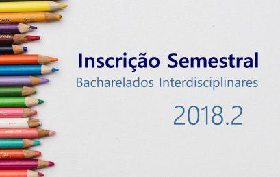 SIG/IHAC informa sobre inscrição semestral para estudantes sem matrícula web em 2018.2
