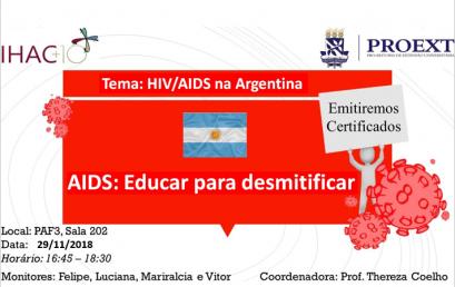 """Nesta quinta-feira (11) ocorre mais um encontro dialógico do projeto """"HIV/AIDS: Educar para desmitificar"""""""