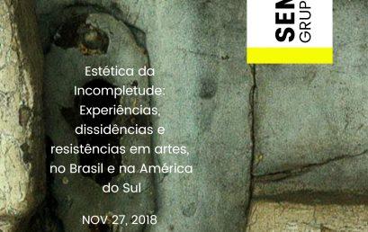Seminário do Grupo Ecus discute experiências, dissidências e resistências em artes, no Brasil e na América do Sul