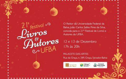 21° Festival de Livros e Autores da UFBA acontece nos dias 12 e 13 de dezembro