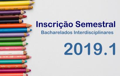 IHAC disponibiliza página exclusiva para informações sobre o período de inscrição semestral de 2019.1