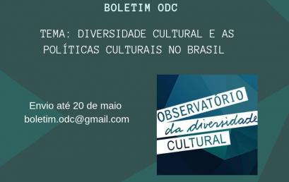 Boletim Observatório da Diversidade Cultural recebe propostas de textos para sua terceira edição em 2019