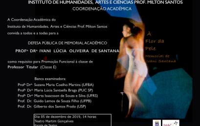 Defesa Pública de Memorial Acadêmico da Profª. Ivani Santana