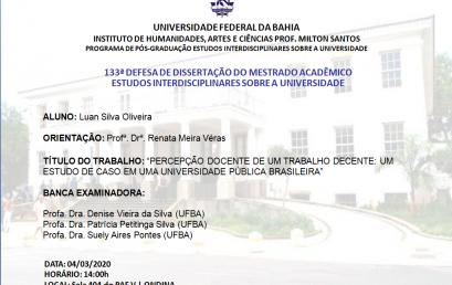 Percepção docente de um trabalho decente: um estudo de caso em uma universidade pública brasileira