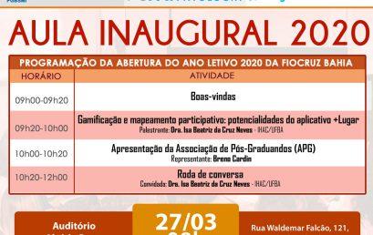 Professora do IHAC ministra aula inaugural da Fiocruz Bahia