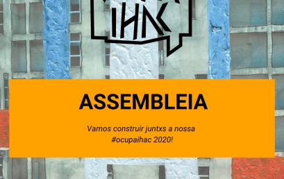 Assembleia Geral Ocupa IHAC 2020
