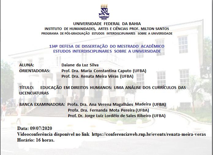 Educação em Direitos Humanos: Uma análise dos currículos das licenciaturas